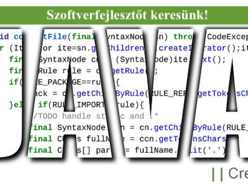 Java szoftverfejlesztő állás